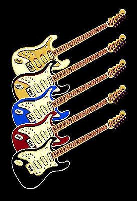 5x7 Area Rug Modern Guitar Music Rock n Roll  Recording Studio Only Guitars