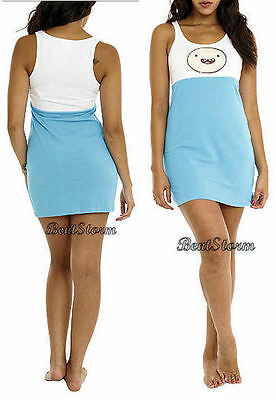 NEW Adventure Time With FINN and Jake Sleepwear Tank Dress NIGHTGOWN Costume M (Jake And Finn Costumes)