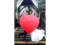 Heart shaped Umbrella. Excellent condition £15