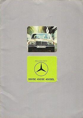 Mercedes-Benz S-Class 350 450 SE SEL W116 1975-78 UK Market Sales Brochure