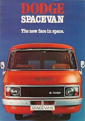 Dodge Spacevan 1978-79 UK Market Brochure 2000 2500 Van Minibus Chassis Cab