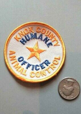 KNOX COUNTY HUMANE SOCIETY OFFICER ASPCA SPCA ANIMAL CONTROL PATCH - OLD