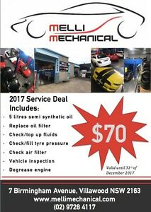 Melli Mechanical $70 Service Deal!! Villawood Bankstown Area Preview