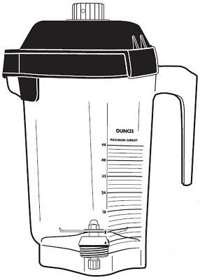 Vitamix 15978 48oz 1.4l Advance Container W Blade Two Piece Lid