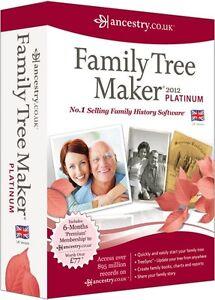 FAMILY TREE MAKER 2012 UK PLATINUM VERSION - NEW