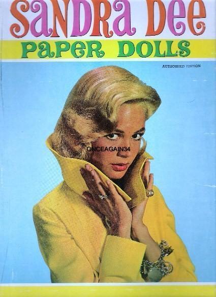 VINTAGE UNCUT 1959 SANDRA DEE PAPER DOLL~8 PAGES CLOTHES~RARE~#1 REPRODUCTION!