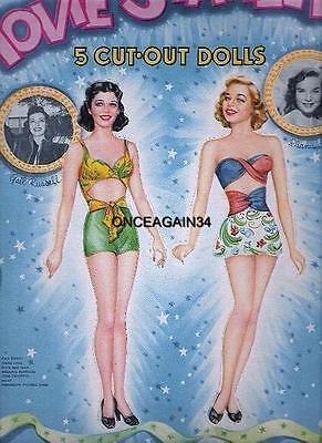 VINTAGE UNCUT 1946 MOVIE STARLETS PAPER DOLLS~#1 REPRODUCTION~LOVELY RARE SET!