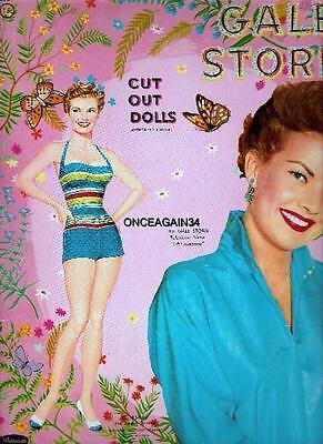 VINTAGE UNCUT 1958 GALE STORM PAPER DOLLS~#1 REPRODUCTION~CLASSIC/NOSTALGIC SET