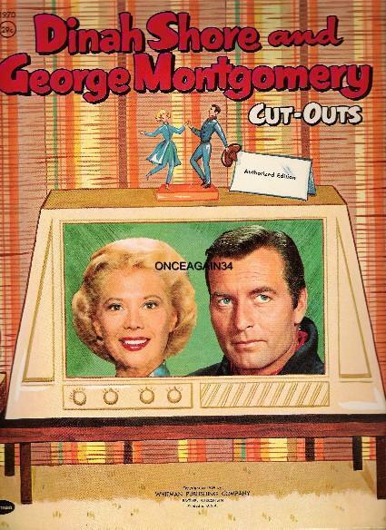 VINTAGE UNCUT 1959 DINAH SHORE & GEORGE MONTGOMERY PAPER DOLLS~#1 REPRODUCTION