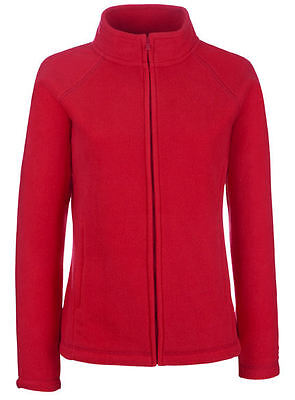 Fruit of the Loom Damen Fleece Sweatjacke Stehkragen Sweatshirt Shirt Pullover