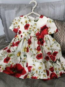 Authentic Dolce & Gabbana Red Poppy Dress