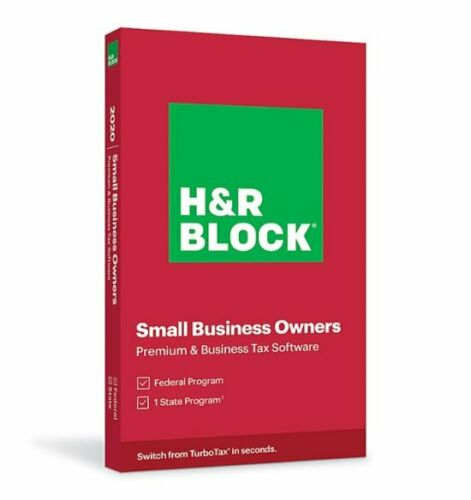 H&R Block Small Business Owners Premium & Business Tax 2020 Windows RED