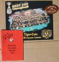 Hamilton Tiger-Cats 50th Ann.+ rule book SIGNED by Angelo Mosca