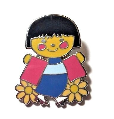 Disney It's  A Small World Mystery Collection Japanese Girl Pin