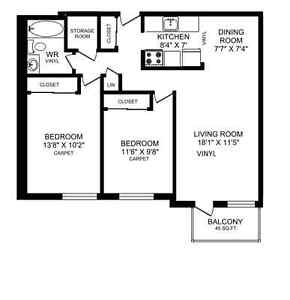 2-Bedroom Apartment available for Sublet for $850/month