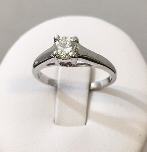 14k gold diamond solitaire engagement ring ^Certified at $2,800