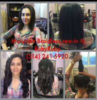 Tissage (greffes sans tresses plates) Hair Extensions Rallonges