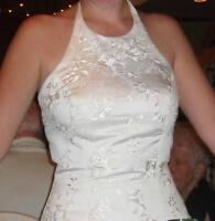 Mon Cheri Halter Wedding Dress