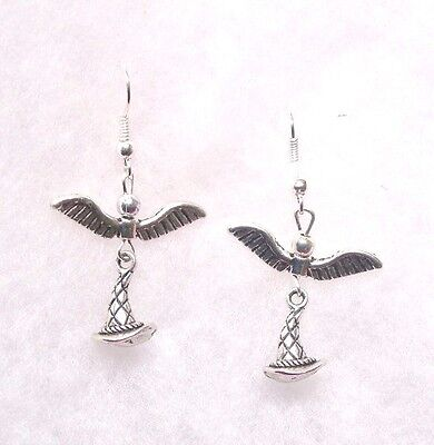 Harry Potter Inspired EarringsFlying  Sorting Hat  9.25 Hooks
