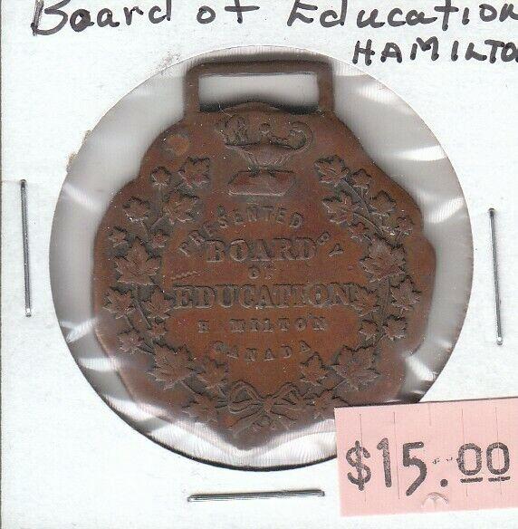 Board of Education - Hamilton Ontario Canada - Medallion