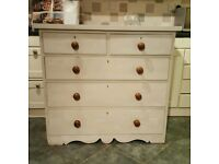 Lovely painted Victorian chest of drawers ( free local delivery)