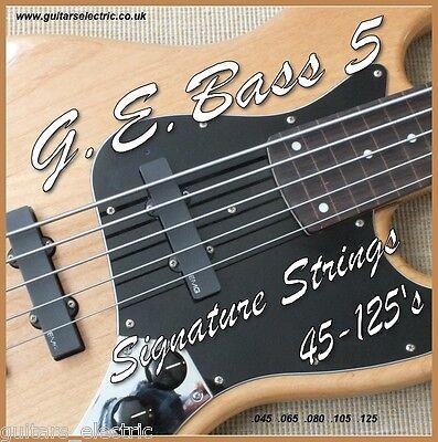 5 String Regular Light (5 String ELECTRIC BASS GUITAR STRINGS 45-125s Regular Light Guage .045 to .125)