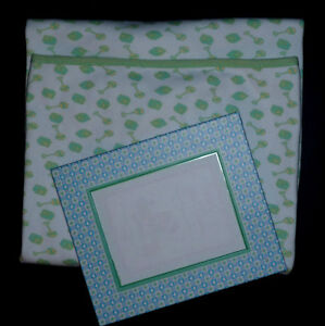Green Baby Blanket .. like NEW ... Picture Frame NEW