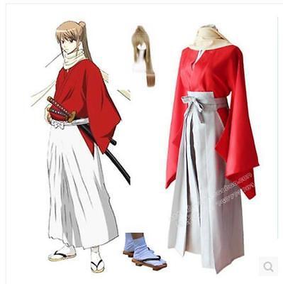 Anime GINTAMA Okita Sougo Cosplay Damen Kostüme Halloween japanisch Kimono (Japanische Anime Halloween Kostüme)
