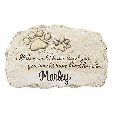 NEW ~ PERSONALIZED Pet Dog Cat Memorial Stepping Stone Grave Marker