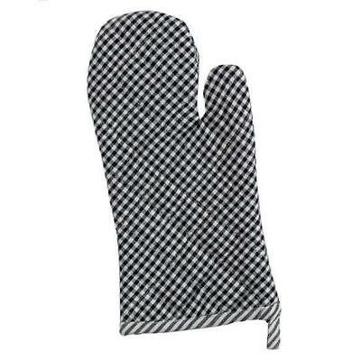 Black and White Gingham Check Quilted Cotton Oven Mitt Gingham Oven Mitt