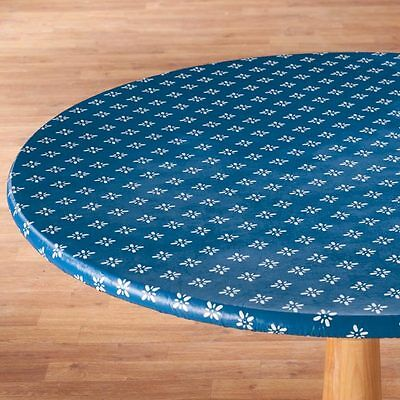 FITTED Heritage Vinyl Weave Table Cover Round Oval/Oblong Fleece Backed ~ - Fitted Table Covers