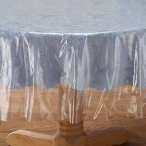 Clear Tablecloth Table Protector Heavy Duty Vinyl Holiday