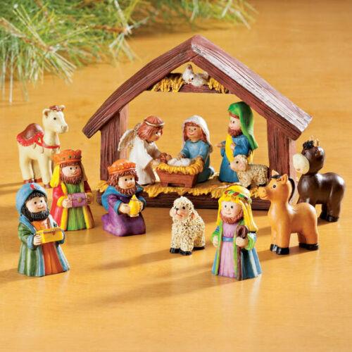 Nativity Scene Manger 9 Piece Set Perfect for Children XMAS Teaching