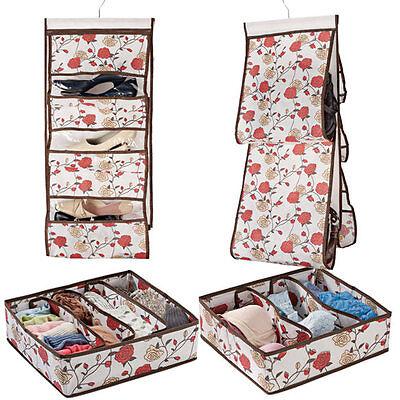 Handbag And Drawer Organization Set of 4 Floral Design Storage Closet Home A