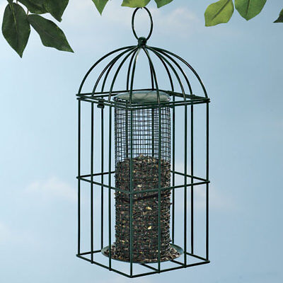 Seed Feeder Metal Birdfeeder Cage Wild Bird Attraction with Squirrel Guard New