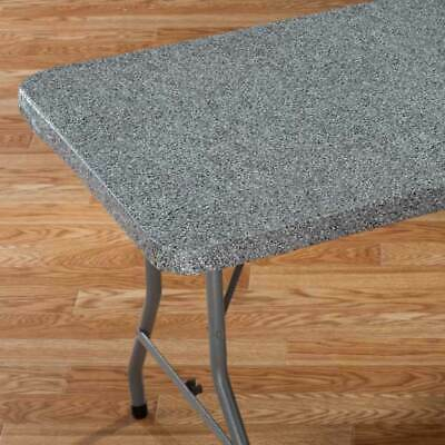 FITTED Granite Vinyl Banquet Card Table Cover 36