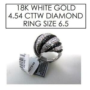 NEW* STAMPED 18K DIAMOND RING 6.5 JEWELLERY - JEWELRY - 18K WHITE GOLD - 4.54 CTTW 101696405