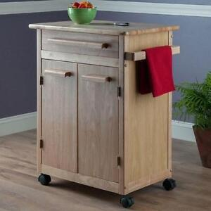NEW WINSOME CABINET KITCHEN CART - 105888391 - WOOD CABINET KITCHEN CART