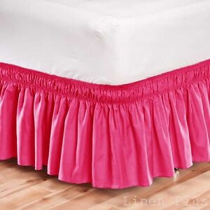 Twin Bed Dust Ruffle Pink