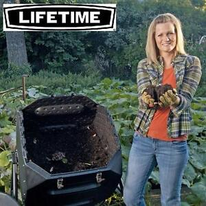 NEW LIFETIME 65 GAL COMPOST TUMBLER BLACK - HDPE HIGH DENSITY POLYETHYLENE COMPOSTING RECYCLING TUMBLERS LAWN 103426913