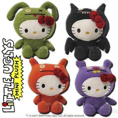 Uglydoll Sanrio Hello Kitty Set of 4 7-Inch Little Ugly Plush Doll Figures -Gund