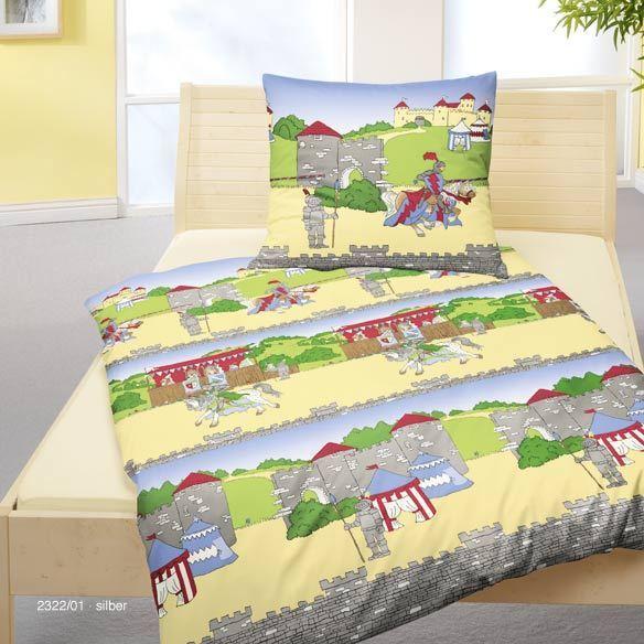 Bierbaum Kinder Bettwäsche Kinderbettwäsche Biber Flanell Ritter 135x200 cm