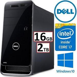 REFURB DELL XPS 8700 DESKTOP PC - 111868054 - i7-4790 16GB RAM 2TB HDD GTX 745 WIN10 MOUSE KEYBOARD COMPUTER