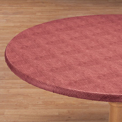 FITTED Vinyl Weave Table Cover Round Oval/Oblong Fleece Backed