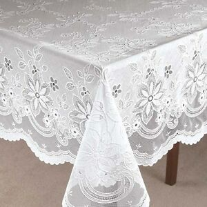 Vinyl-Lace-Table-Cover-Tablecloth-60-x-90-Oblong-Dining ...