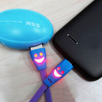 Smiley Face Charger Cable for iPhone, iPod, iPad