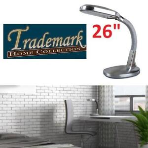 "NEW SUNLIGHT DESK LAMP 26"" 72-0925S 211611620 TRADEMARK HOME COLLECTION 6500K 1300LUMENS SILVER"