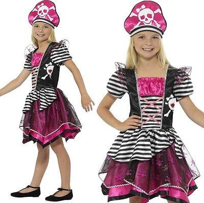 Kinder Mädchen Perfekt Piratenkostüm Kinder Outfit von Smiffys Neu