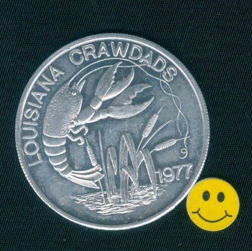 Crawfish LOUISIANA CRAWDADS Mardi Gras Doubloon Token Coin 1977 FREE S&H