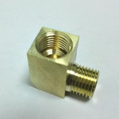 Metric Fitting M10 M10X1 M10X1.0 Male & Female Gauge Adapter 90 Deg Elbow (Gauge Adapter Fitting)